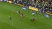 Porcari si appoggia a Widmer: rigore per l'Udinese contro il Carpi
