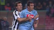 Domizzi trattiene e poi atterra Cristiano Lucarelli in piena area di rigore: penalty per il Napoli