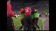 Gilardino segna il goal del 4-1 del Milan contro la Lazio