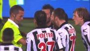 Intervento duro di Heurtaux su Florenzi: rosso diretto e Udinese in dieci contro la Roma