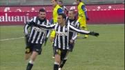 Quagliarella in rovesciata segna il goal del vantaggio juventino contro il Chievo