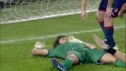Perin alza sopra la traversa i sogni di Morata