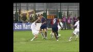 Suazo, gran destro in contropiede e il Cagliari va in vantaggio