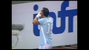 Pandev firma il goal del raddoppio della Lazio all'Olimpico contro la Fiorentina