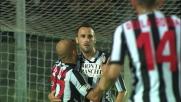 Terzi beffa la difesa del Milan con un goal di testa