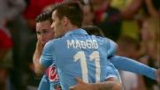 Callejon sigla il goal del vantaggio contro il Genoa