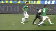 Asamoah trasforma l'azione da difensiva ad offensiva