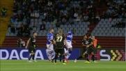Okaka con un bellissimo colpo di testa segna il goal del vantaggio della Sampdoria