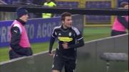 Il goal di Mutu porta in vantaggio il Cesena contro la Lazio all'Olimpico
