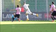 Thereau segna il goal che porta in vantaggio l'Udinese a Palermo