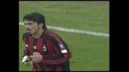Gattuso ci prova col destro contro la Juventus ma la palla termina alta