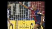 Ferri travestito da centravanti segna contro il Livorno