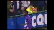 Papa Waigo segna un goal da tre punti per la Fiorentina contro il Livorno