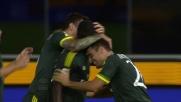 Cristian Zapata sigla il goal del 3-0 per il Milan a Udine