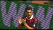 Il pallone di Mancini è imprendibile per Borriello