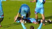 Barrientos segna il goal dopo un'azione convulsa nell'area del Genoa