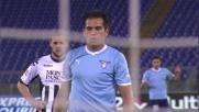 Ledesma con sangue freddo dagli 11 metri segna il goal del pareggio per la Lazio
