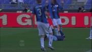 Radu anticipa Masiello in area e guadagna un rigore per la Lazio