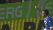 Pozzi di testa segna il goal del momentaneo pareggio al Marassi