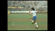 Maradona accende i motori: il Pibe de Oro si riscalda prima del match fra Inter e Napoli