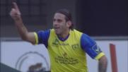 Moscardelli al volo per il goal vittoria contro il Cesena