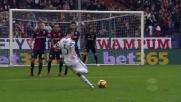 Pjanic prende la mira su punizione contro il Genoa: palla sul fondo