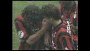 Goal su punizione meravigliosa di Baggio: il Milan chiude la partita contro il Perugia