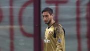 Il riflesso di Donnarumma nega il goal a Pjanic in Milan-Roma