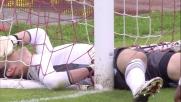 Su azione da calcio d'angolo Berisha para il colpo di testa di Biagianti