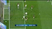 Il tiro-cross di Abate sfiora il goal: Buffon respinge sulla linea e salva la Juventus