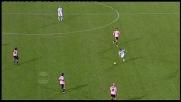 Destro a spiovere di Cossu, palla fuori di poco con il Palermo