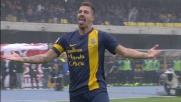 Il tempismo di Cacciatore vale il goal del vantaggio al Bentegodi contro il Parma