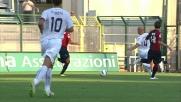 Lisuzzo in scivolata ferma l'attaccante del Cagliari Thiago Ribeiro