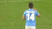 Il bel goal da fuori area di Mertens segna il pokerissimo del Napoli contro l'Hellas Verona