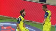 Paloschi segna alla Lazio su assist di tacco di Meggiorini