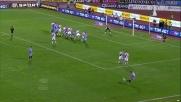 Bergessio con opportunismo senga il goal che regala il pareggio al Catania con il Cagliari