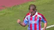 La fortuna e la magia di Maxi Lopez battono Gillet: è il goal del pareggio per il Catania