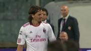 Cartellino rosso a Ibrahimovic per frasi ingiuriose in Fiorentina-Milan