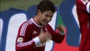 Tap-in vincente di Pato per il goal del 3-0 al Chievo