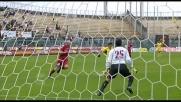 Magia di Sanchez che a Livorno segna il goal del vantaggio dell'Udinese