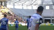L'azione personale di Bruno Fernandes viene interrotta dalla difesa del Sassuolo