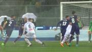 Tomovic anticipa tutti e salva la Fiorentina disimpegnando in corner