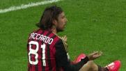 A San Siro Zaccardo commette un fallo da rigore su Thereau