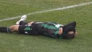Manfredini spedisce la palla alle spalle del proprio portiere: autorete del Sassuolo!