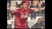 Petruzzi ferma Lucarelli in area: protesta il Livorno ma per l'arbitro è tutto regolare