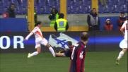 Fallo di Rafinha su Taddei:doppio giallo e rosso in Genoa-Roma