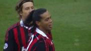 Milan show, ma il tiro di Ronaldinho finisce sul palo