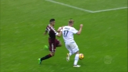 Castan segue e chiude Immobile in calcio d'angolo durante Torino-Lazio