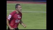 Il gran goal di Lucarelli porta in vantaggio il Livorno contro l'Atalanta