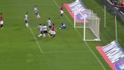 Totti illumina per Osvaldo, Handanovic salva l'Udinese grazie al palo
